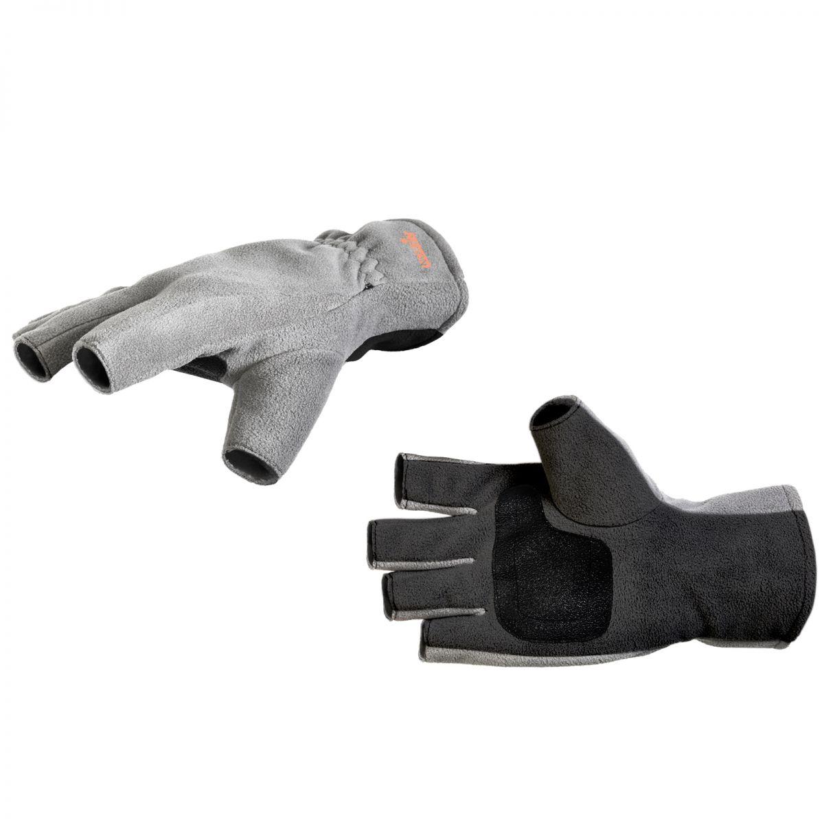 Перчатки варежки мужские Norfin Point, серые/черные, XXL