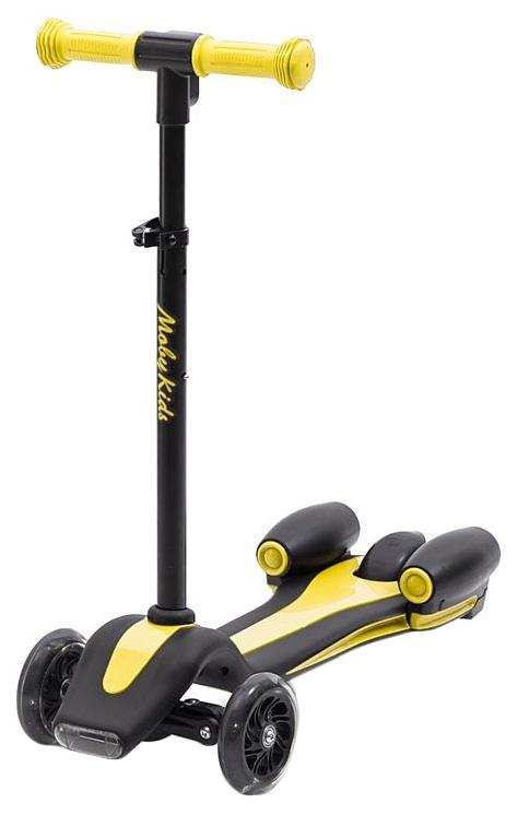 Купить Самокат трехколесный Moby Kids Junior Rocket 120 мм желтый 641156, Самокаты детские трехколесные
