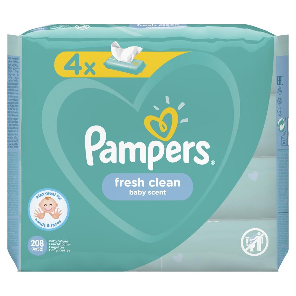 Купить Детские влажные салфетки Pampers Fresh Clean 208 шт.