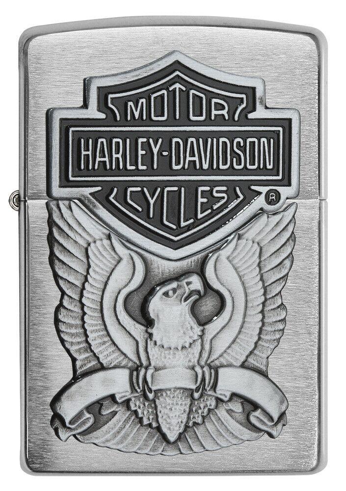Зажигалка Zippo Harley-Davidson Eagle Logo Emblem Brushed Chrome фото