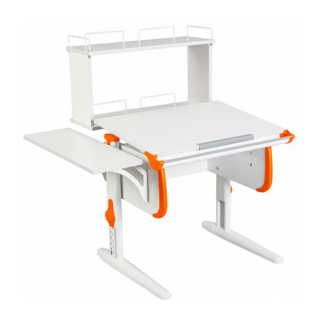 Парта WHITE СТАНДАРТ СУТ-24-02Д белый, оранжевый, белый,