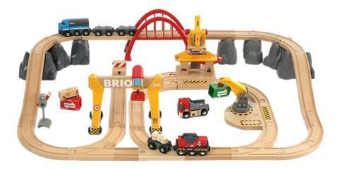 Набор железная дорога Brio с мостовым краном