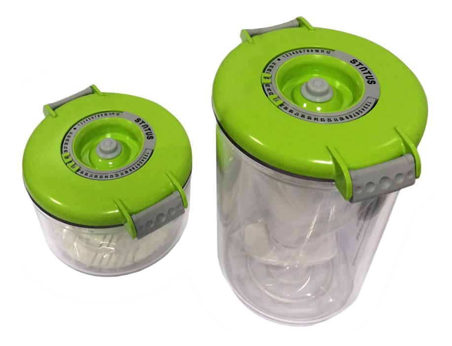 Контейнер для вакуумного упаковщика STATUS 177633 VAC-RD-Round Green