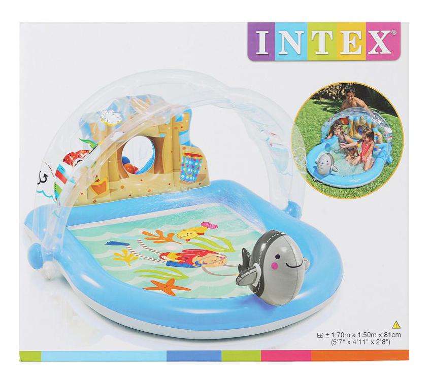 Купить Игровой центр Intex 170х150х81см Дельфин с фонтаном, Детские бассейны