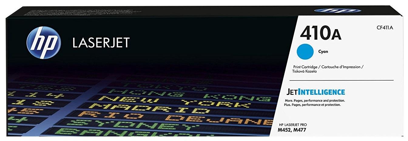 Картридж HP CF411A для LJ Pro M477fdn/M477fdw/M477fnw/M452dn/M452nw 2300стр голубой