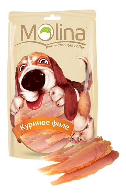 Лакомство для собак Molina, куриное филе, 80г