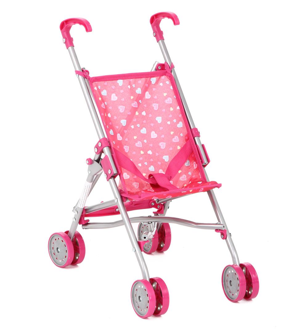 Коляска для кукол Melobo S9307 розовый+сердечки S9307