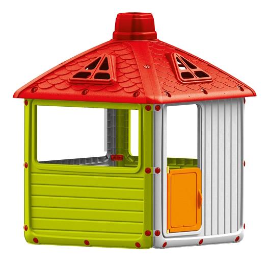 Игровой домик Dolu для улицы Городской дом зеленый фото