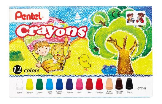 Восковые мелки Pentel Crayons 12 шт.