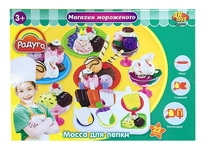 Набор для лепки из пластилина ABtoys Магазин мороженого