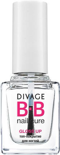 Топ-покрытие для ногтей DIVAGE Nail Cure, Gloss Up, New Pack