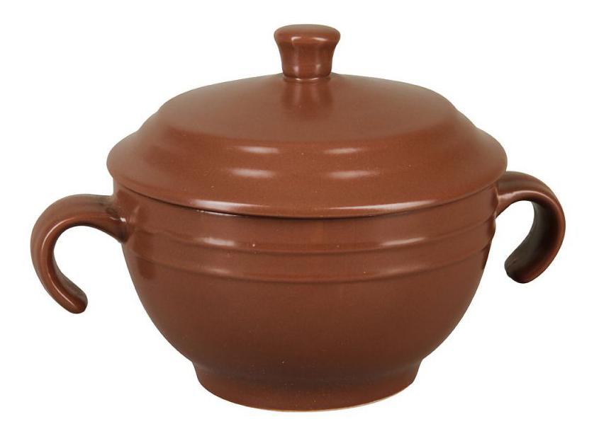 Супница с крышкой (коричневая)
