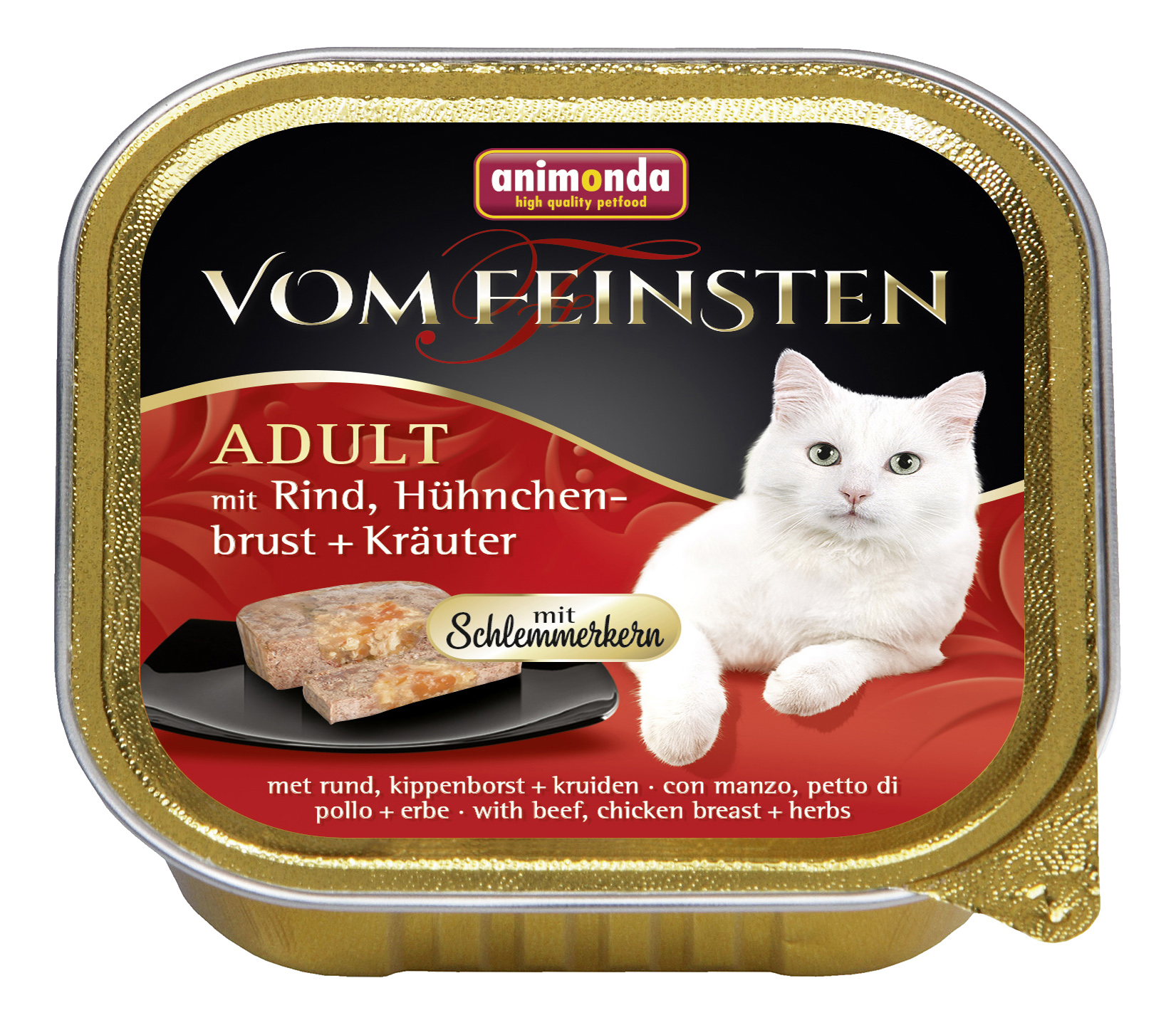 Консервы для кошек Animonda Vom Feinsten Adult, говядина, курица, овощи, 100г фото