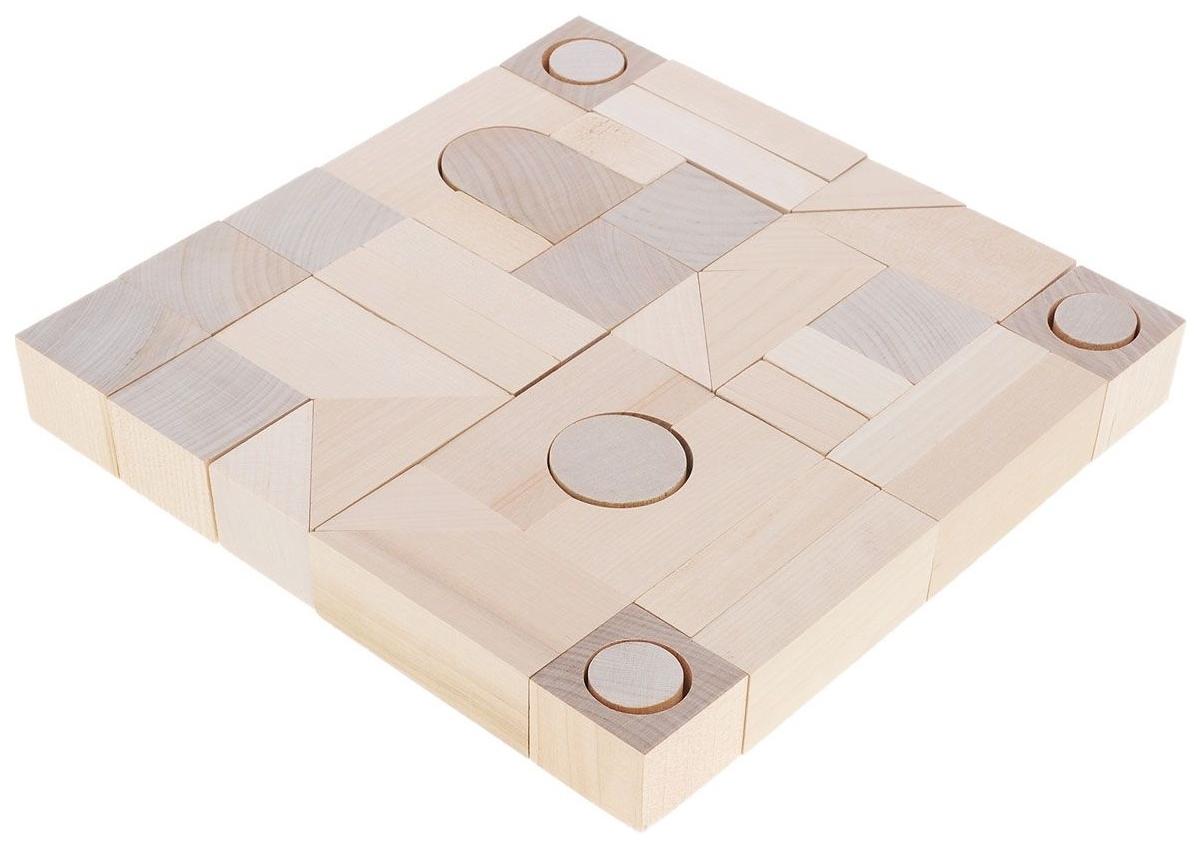Купить Конструктор деревянный Alatoys Городок К2400-3, Алатойс, Деревянные конструкторы