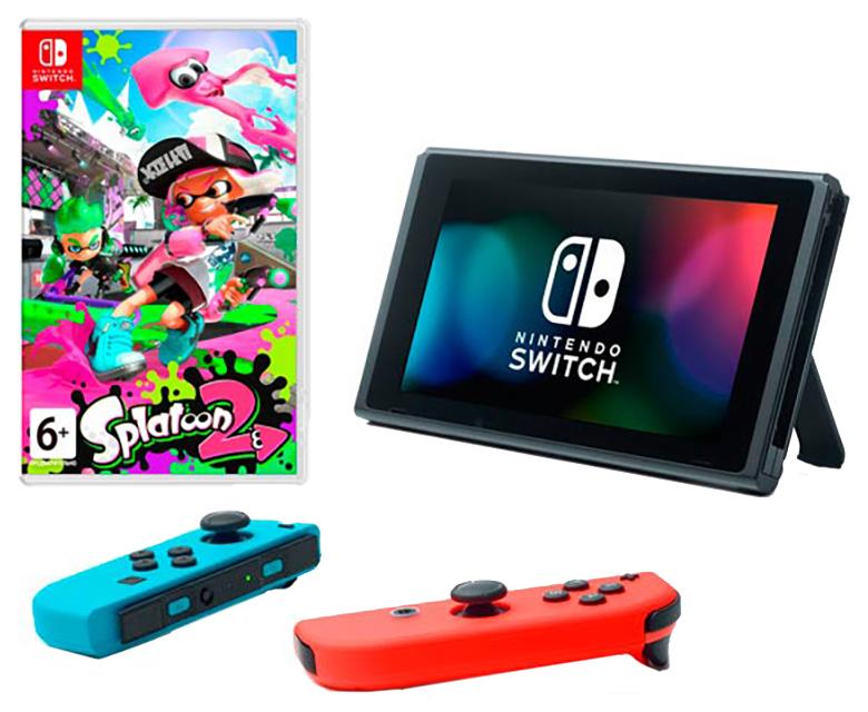 Портативная игровая консоль Nintendo Switch Red Blue