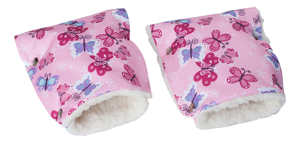 Купить Меховые бабочки, Муфта для рук мамы на детскую коляску Чудо-Чадо Меховые бабочки, Муфты на коляску