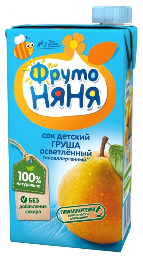 Сок ФрутоНяня Груша с 3 лет