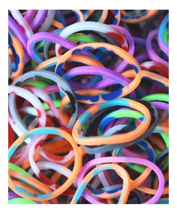 Плетение из резинок Rainbow Loom Розовый камуфляж 600 резиночек и клипсы фото