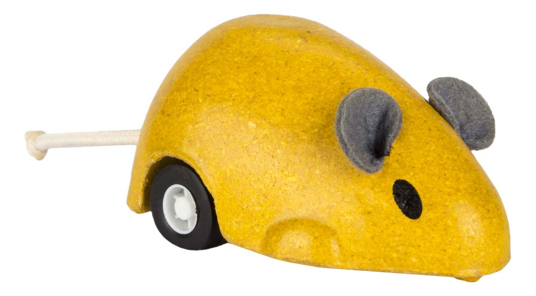 Деревянная игрушка для малышей PlanToys Заводная деревянная мышь фото