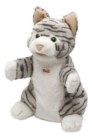 Мягкая игрушка Trudi на руку Кошка полосатая 25 см 29940