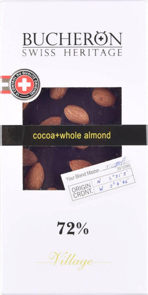 Шоколад горький Bucheron с миндалем 72% какао 100 г