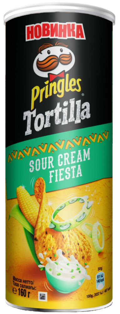 Чипсы кукурузные Pringles tortilla сметана 160 г