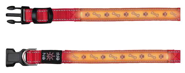 Ошейник для собак TRIXIE USB Flash Collar M светящийся 80 грамм, красный 13071