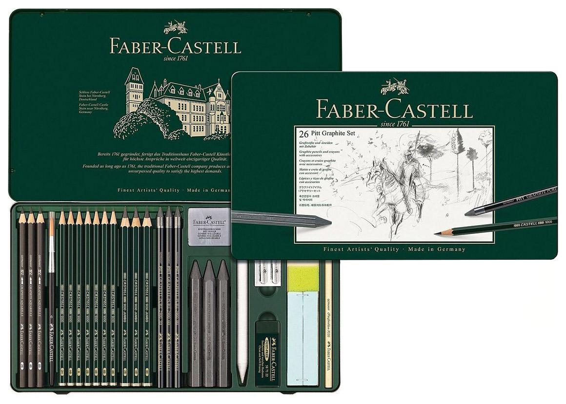Набор графита Faber Castell PITT Monochrome Set,