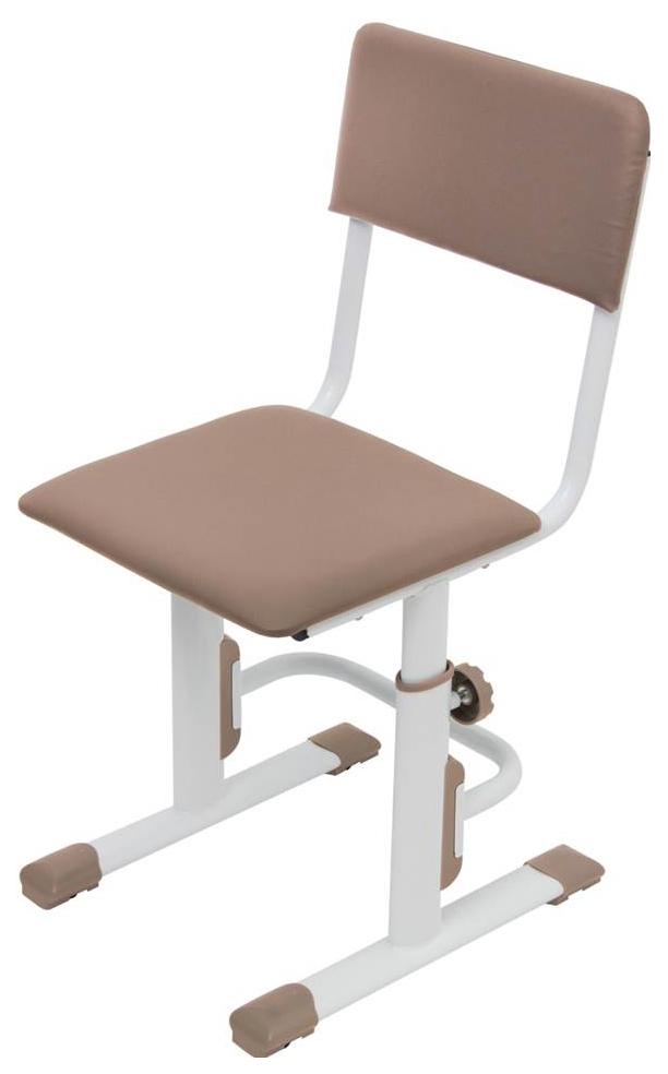 Детский стул для школьника регулируемый Polini Kids City/Polini Kids Smart L, Белый/Макиат