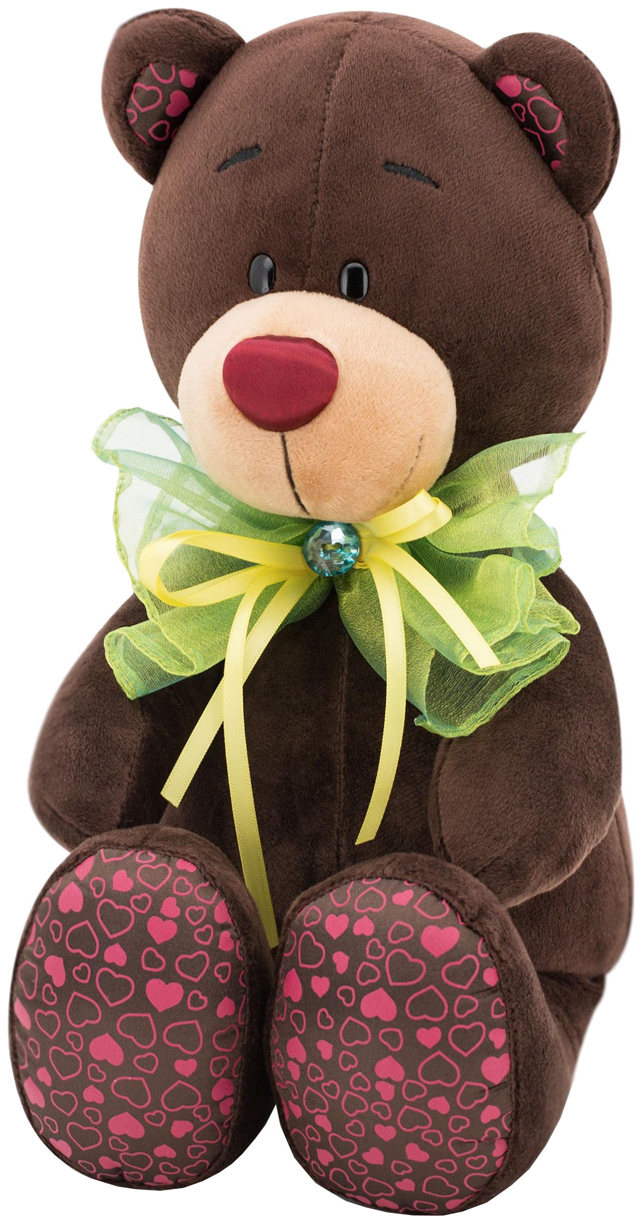 Мягкая игрушка Orange Toys Медведь Зелёный бант Choco#and#Milk 20 см