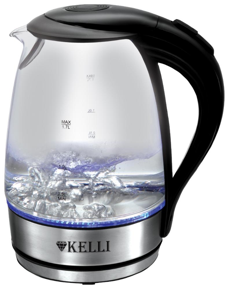 Чайник электрический Kelli KL 1462 Silver/Black