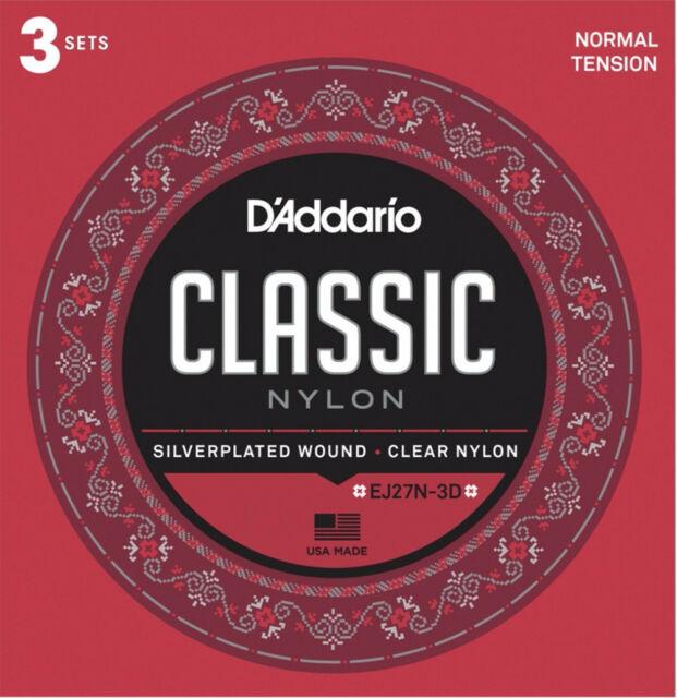 Струны для классической гитары D ADDARIO EJ27 N-3D по цене 1 475