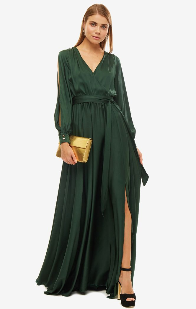 Платье женское ALISIA HIT зеленое