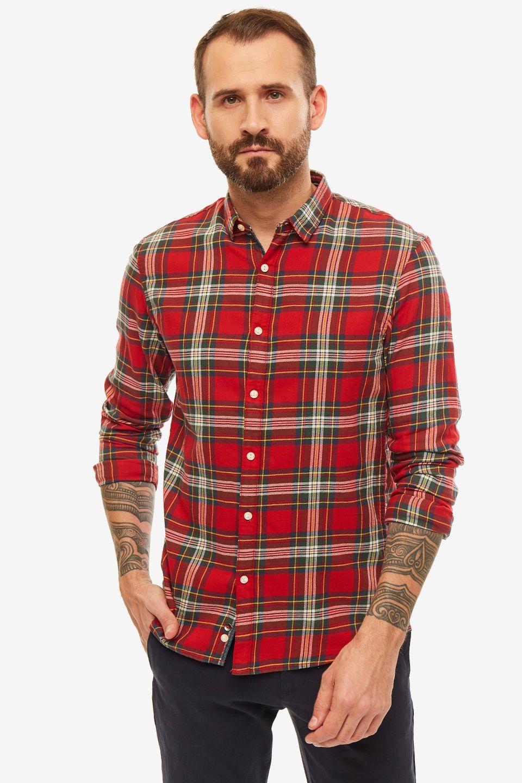 Рубашка мужская TOM TAILOR Denim красная