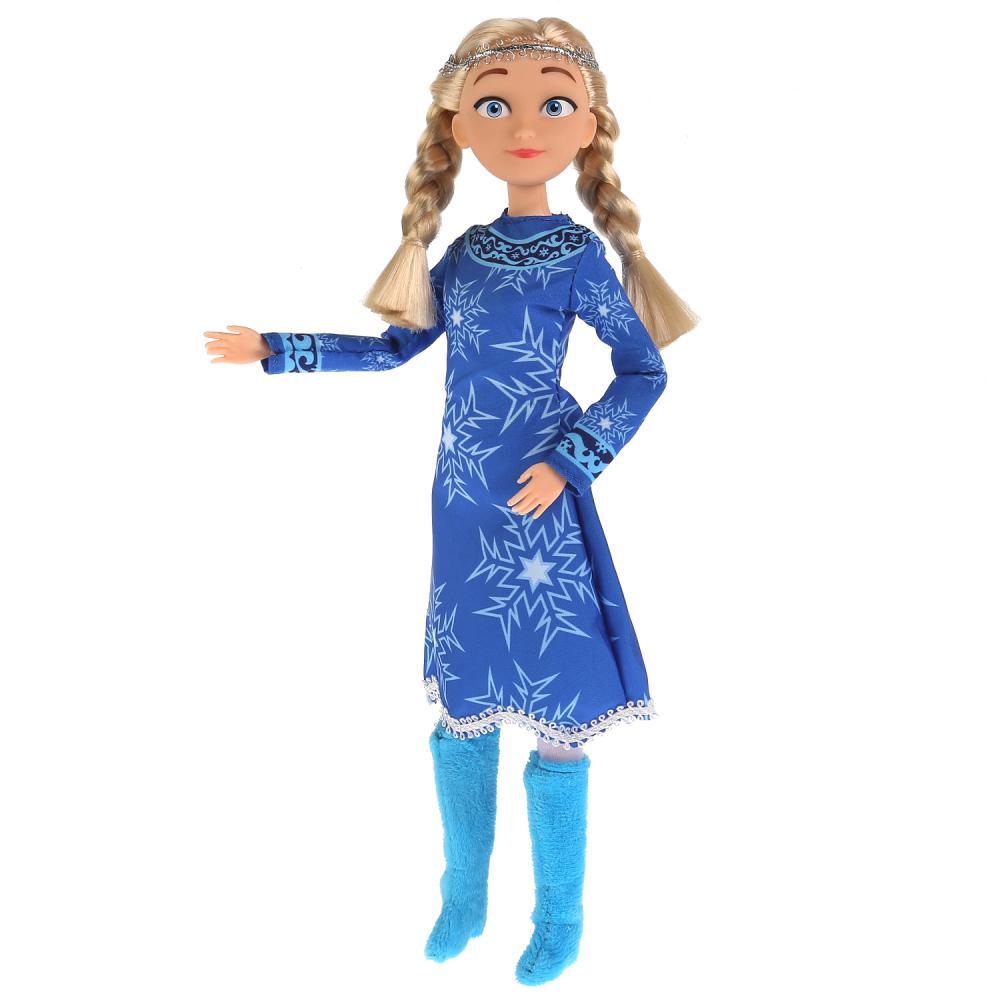 Кукла Карапуз Снежная Королева Герда в голубом платье 29 см