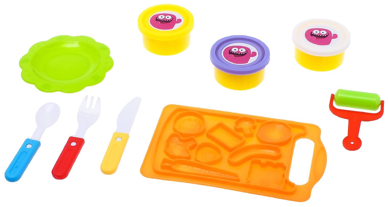 Купить Набор для игры с пластилином «Шеф-повар», с подносом Эврики, Лепка