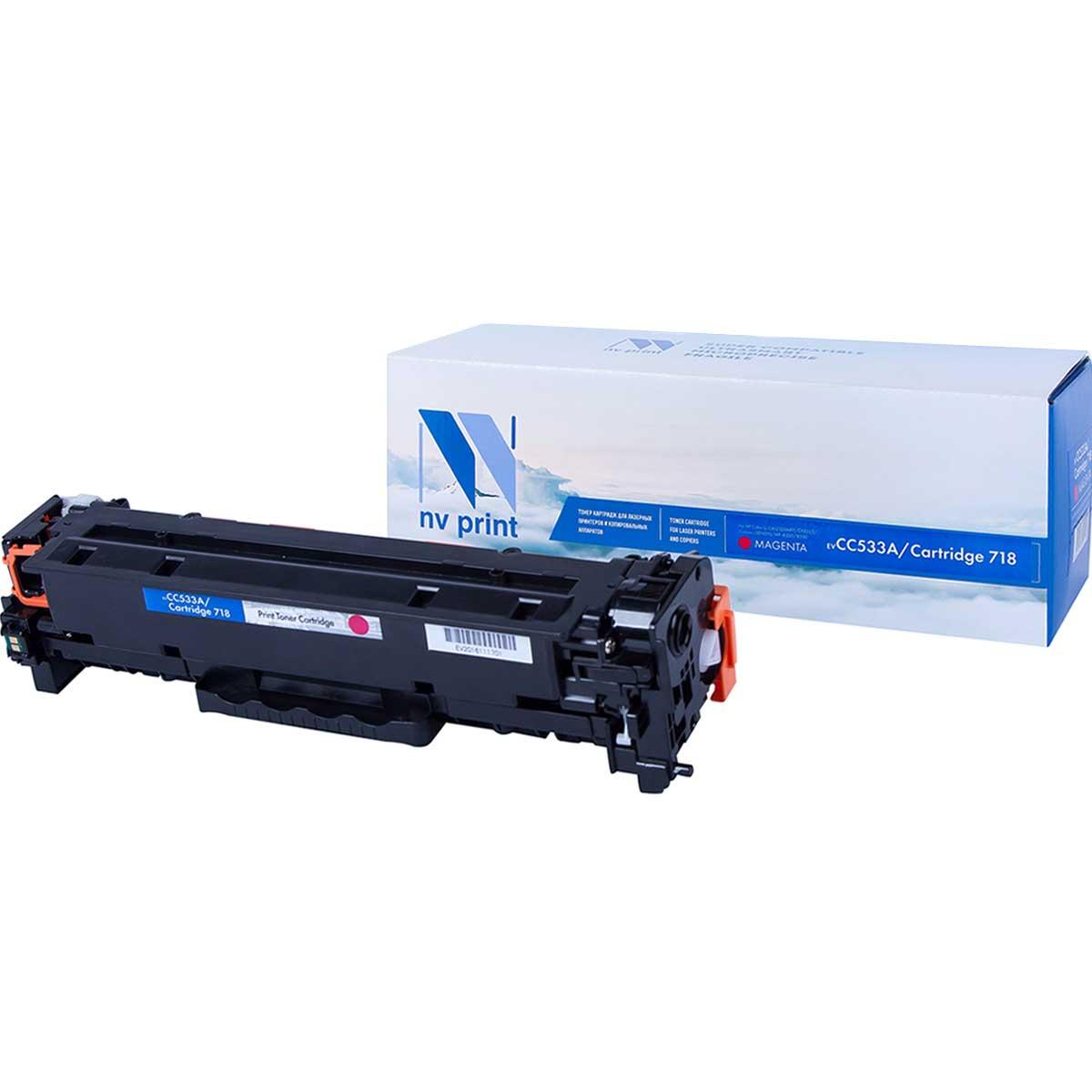 Картридж для лазерного принтера NV Print CC533A/718M, пурпурный NV-CC533A/718M