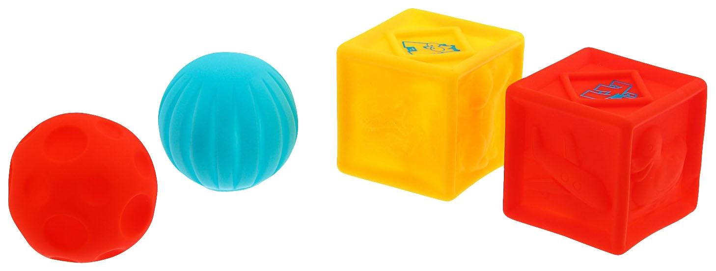 Купить Игрушки для ванны «Кубики и мячики 1», набор 4 шт. Крошка Я, Игрушки для купания