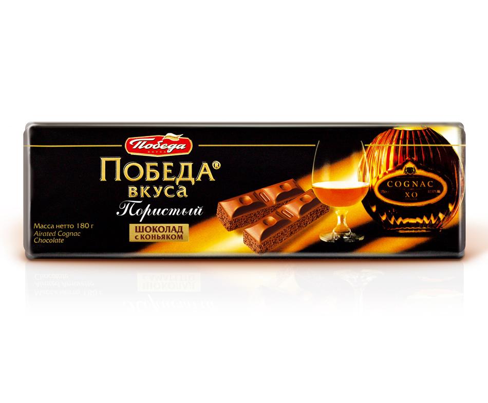 Шоколад Победа Вкуса пористый десертный с коньяком фото