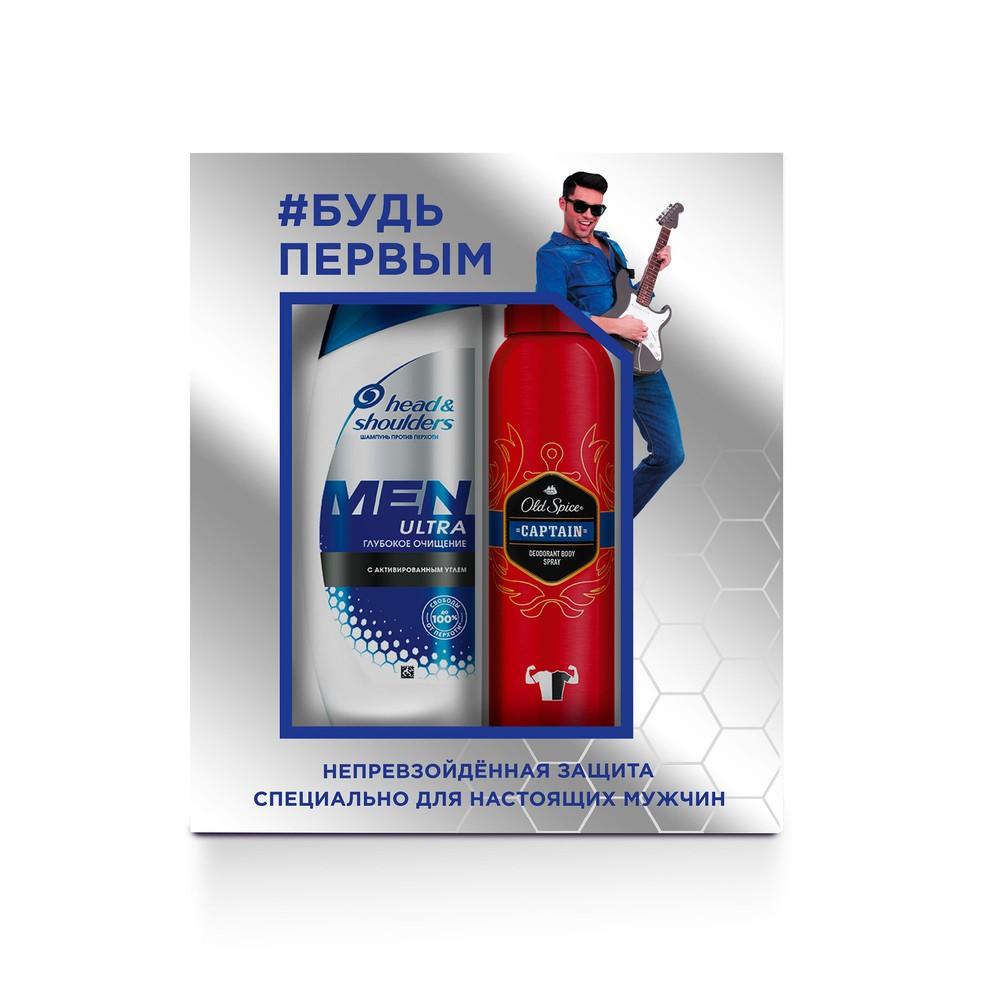 Подарочный набор Head#and#Shoulders Глубокое очищение с углем 180мл+Old Spice дезодорант 150мл