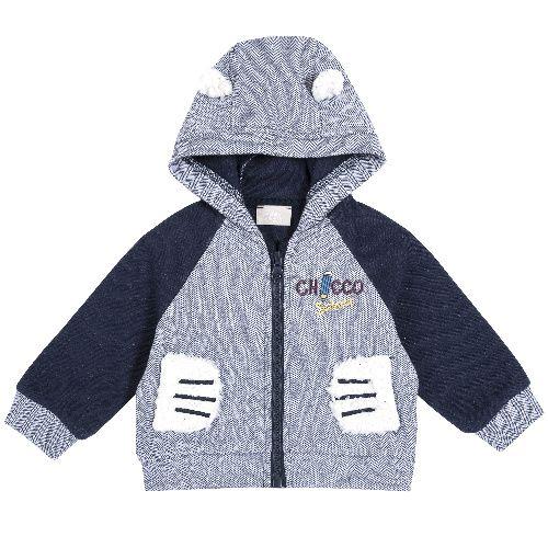 Купить 9096916, Толстовка Chicco для мальчиков р.92 цв.синий, Кофточки, футболки для новорожденных