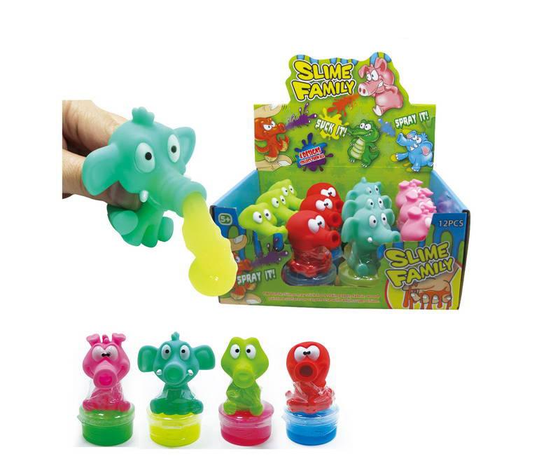 Купить Игрушка-антистресс Лизун Slime family , , в дисплее 12 шт, ЦЕНА ЗА ШТУКУ, Junfa toys