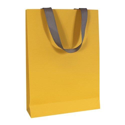 Пакет подарочный, 25 х 32 х 8 см, желтый