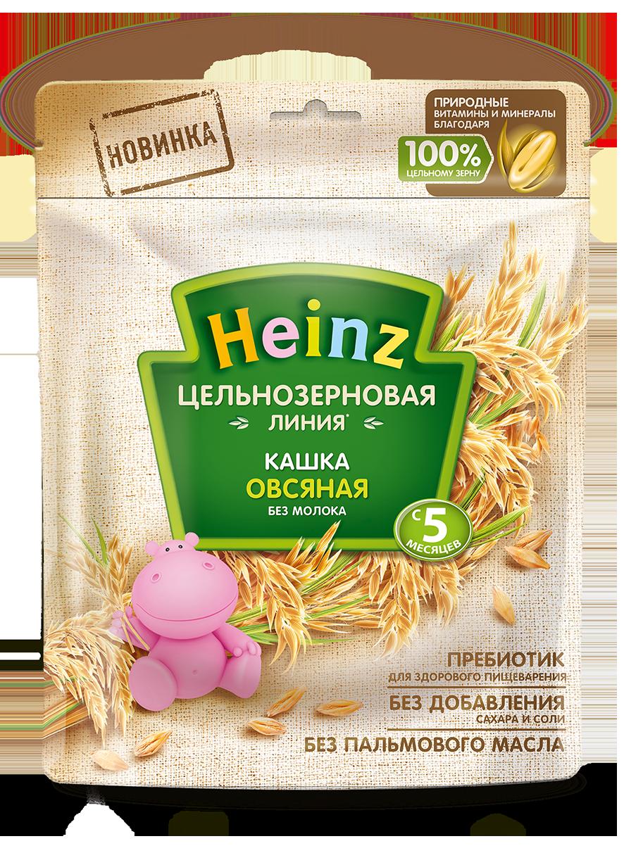Каша безмолочная Heinz Овсяная цельнозерновая с 5 мес. 180 г, 7 шт. фото