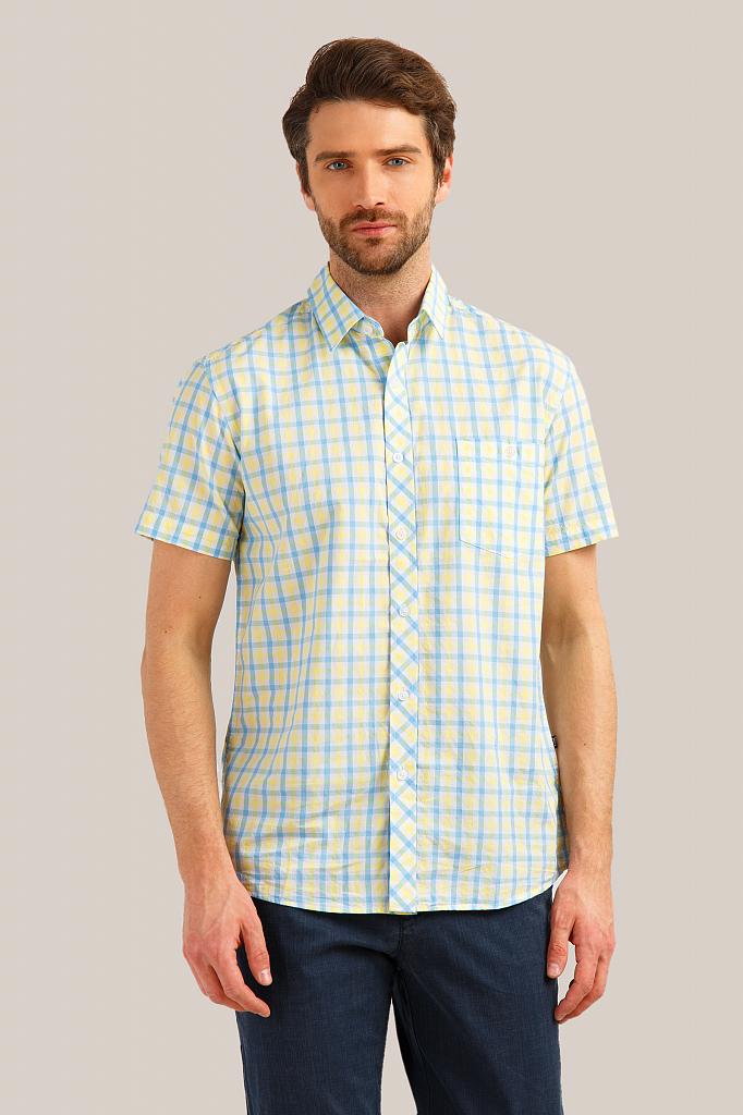 Рубашка мужская Finn Flare S19-24011 желтая XL