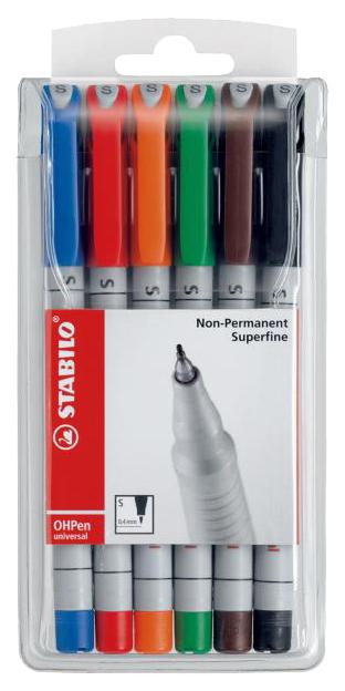 Набор маркеров STABILO OHPen universal Fine Non-Permanent 851/6 6 шт