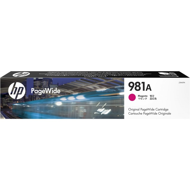 Картридж для струйного принтера HP J3M69A пурпурный  - купить со скидкой