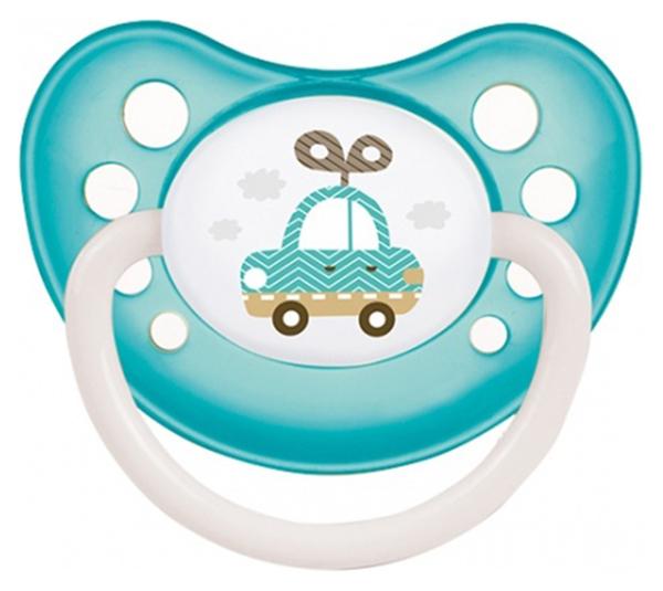 Пустышка силиконовая анатомическая Canpol Babies Toys 0-6 мес 23/259, Бирюзовая