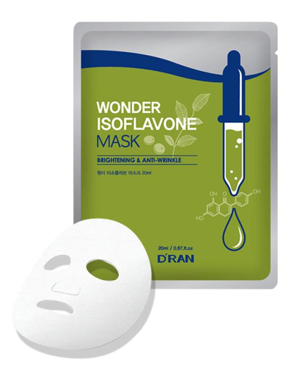 Маска для лица D\'ran с Изофлавонами сои Wonder Isoflavone Mask. 20мл