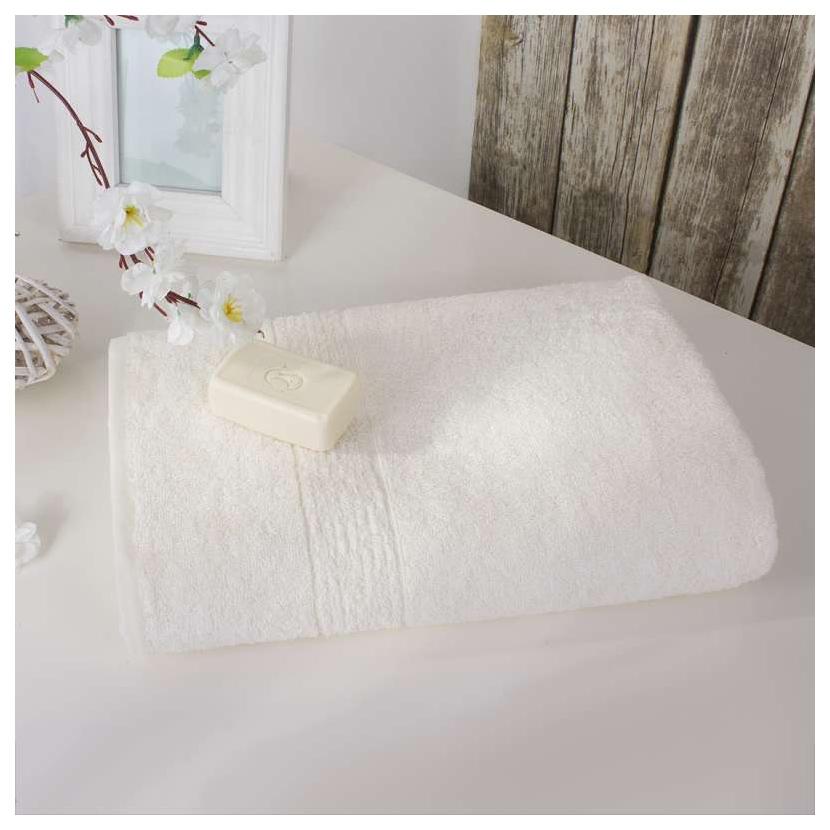 Банное полотенце, полотенце универсальное Dome белый